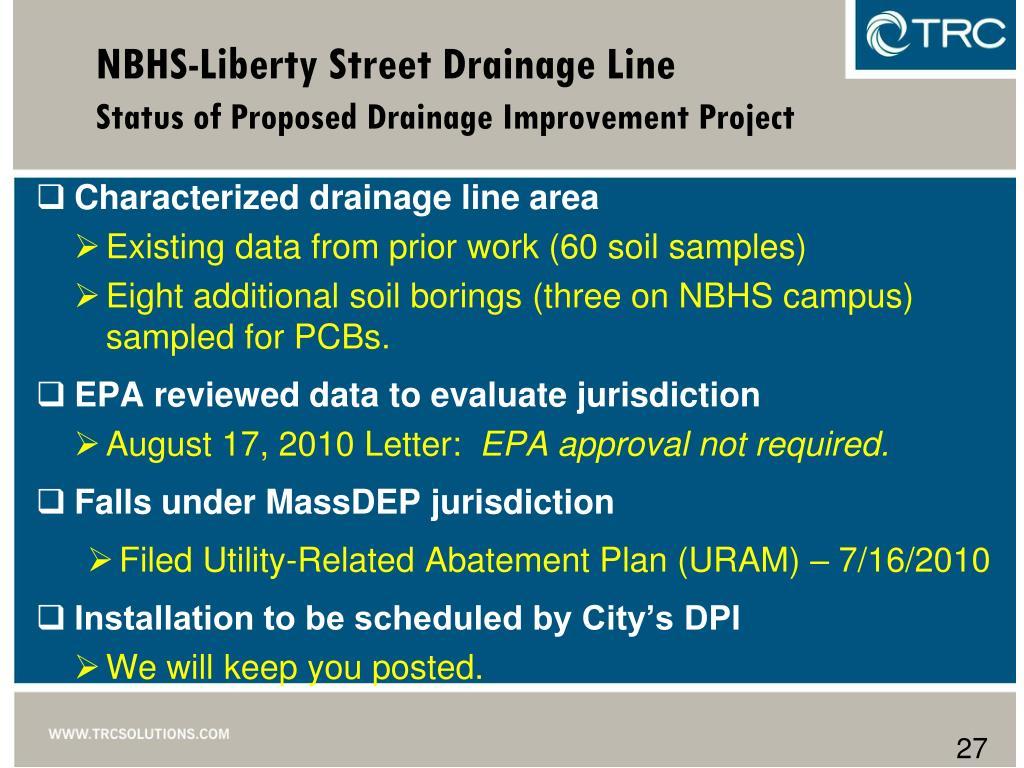 NBHS-Liberty Street Drainage Line