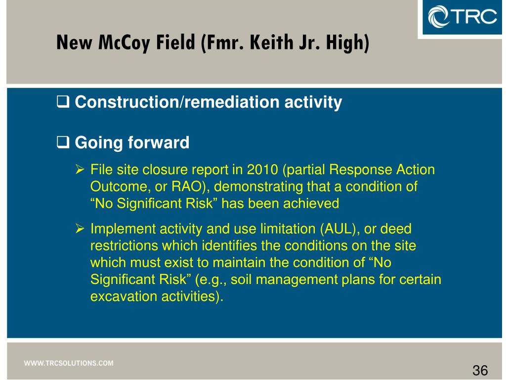 New McCoy Field (Fmr. Keith Jr. High)
