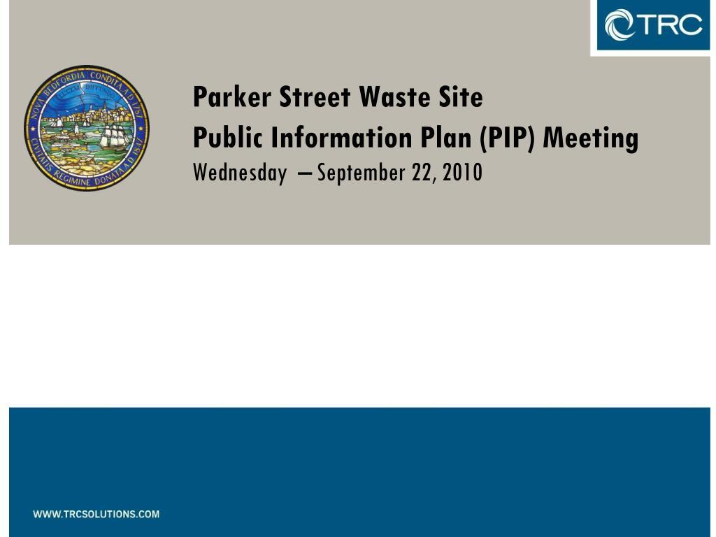 Parker Street Waste Site