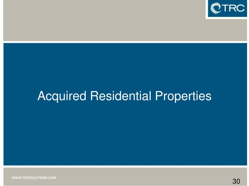 Acquired Residential Properties