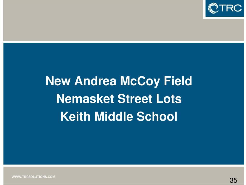 New Andrea McCoy Field