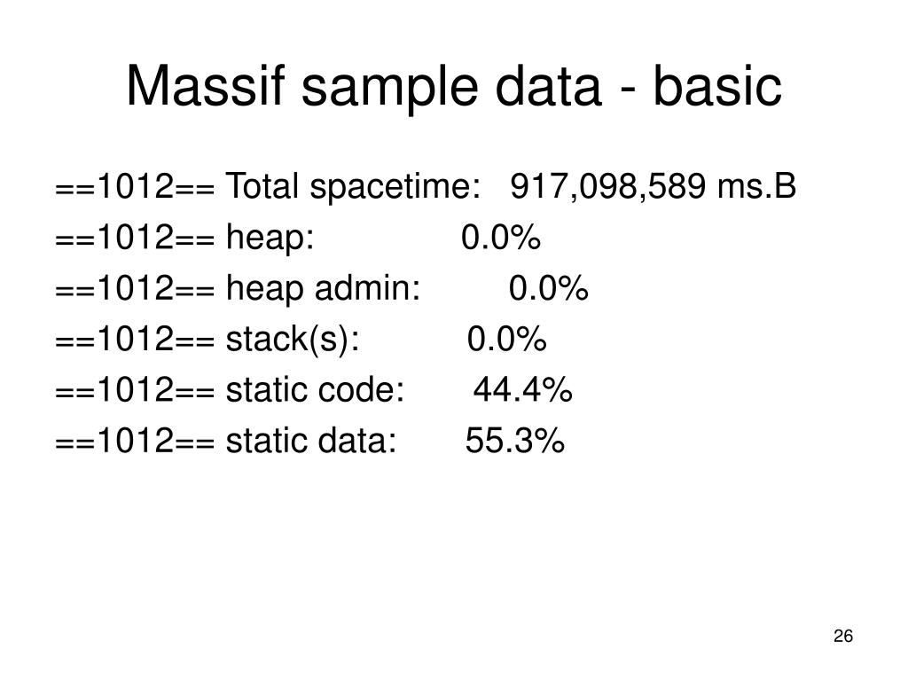 Massif sample data - basic