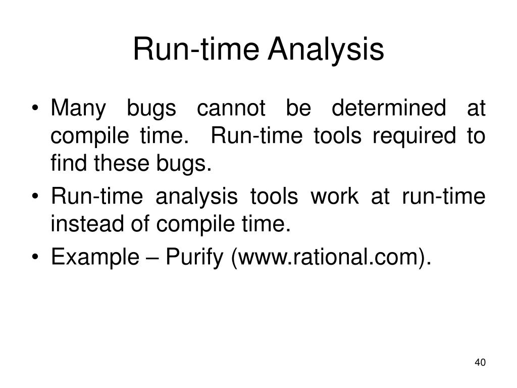 Run-time Analysis