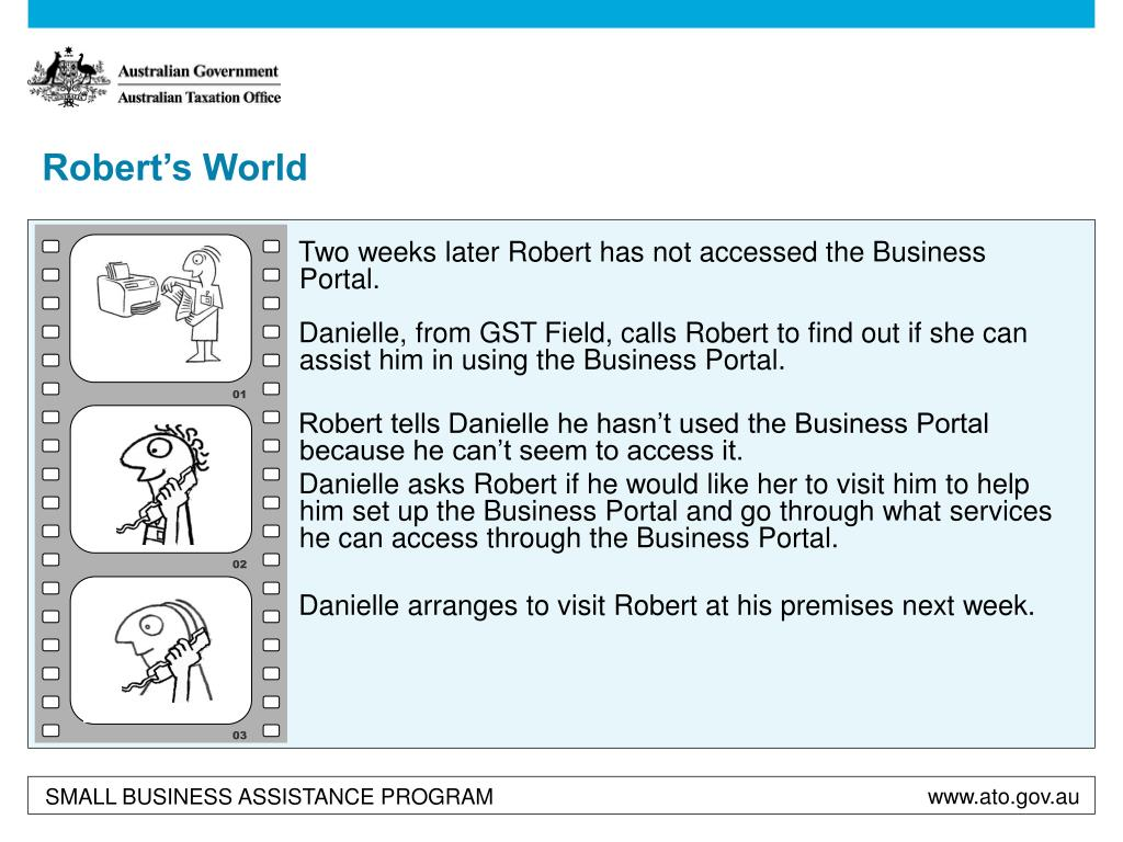 Two weeks later Robert has not accessed the Business Portal.