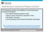 small business assistance program scenario5