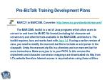 pre biztalk training development plans16
