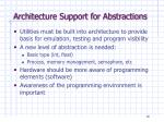architecture support for abstractions