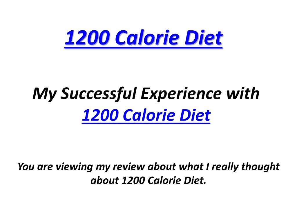 PPT - 1200 Calorie Diet PowerPoint Presentation - ID:242496