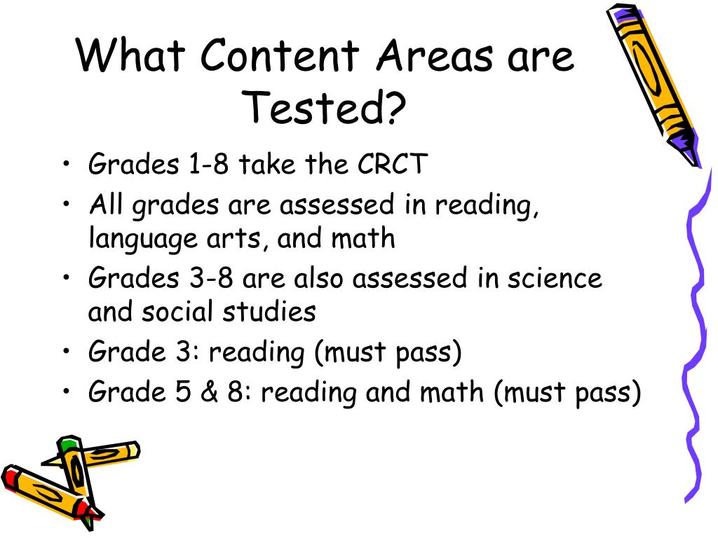 What Content Areas are Tested?