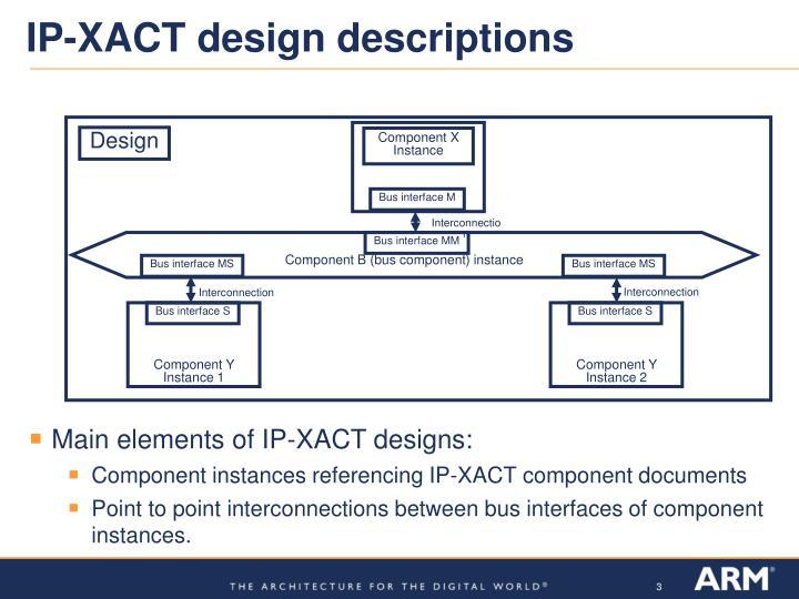 Ip xact design descriptions