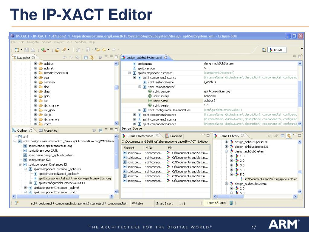 The IP-XACT Editor
