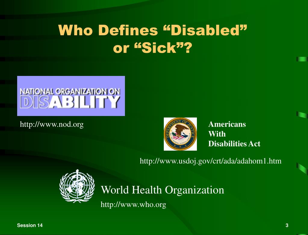 """Who Defines """"Disabled"""""""