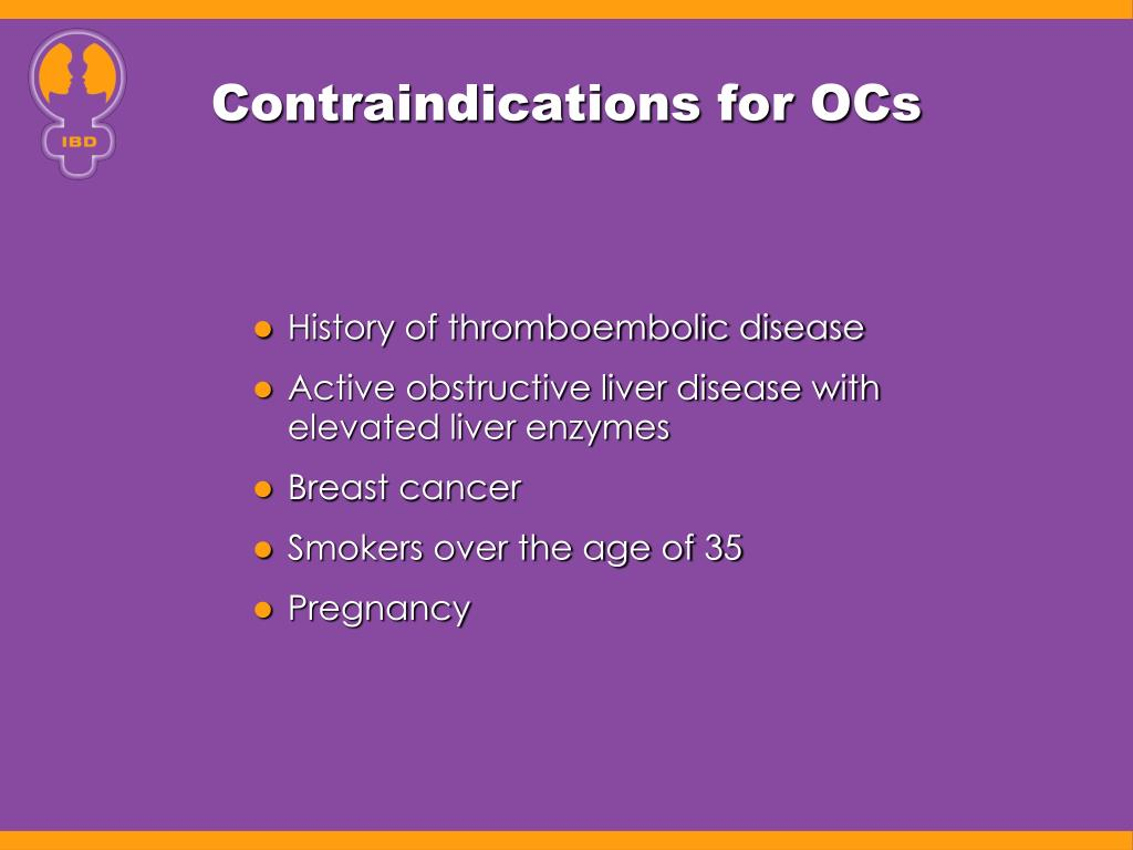 Contraindications for OCs