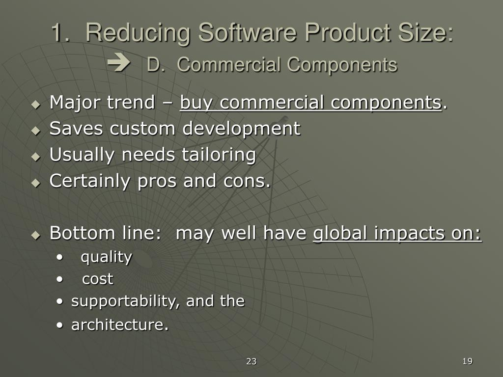 1.  Reducing Software Product Size: