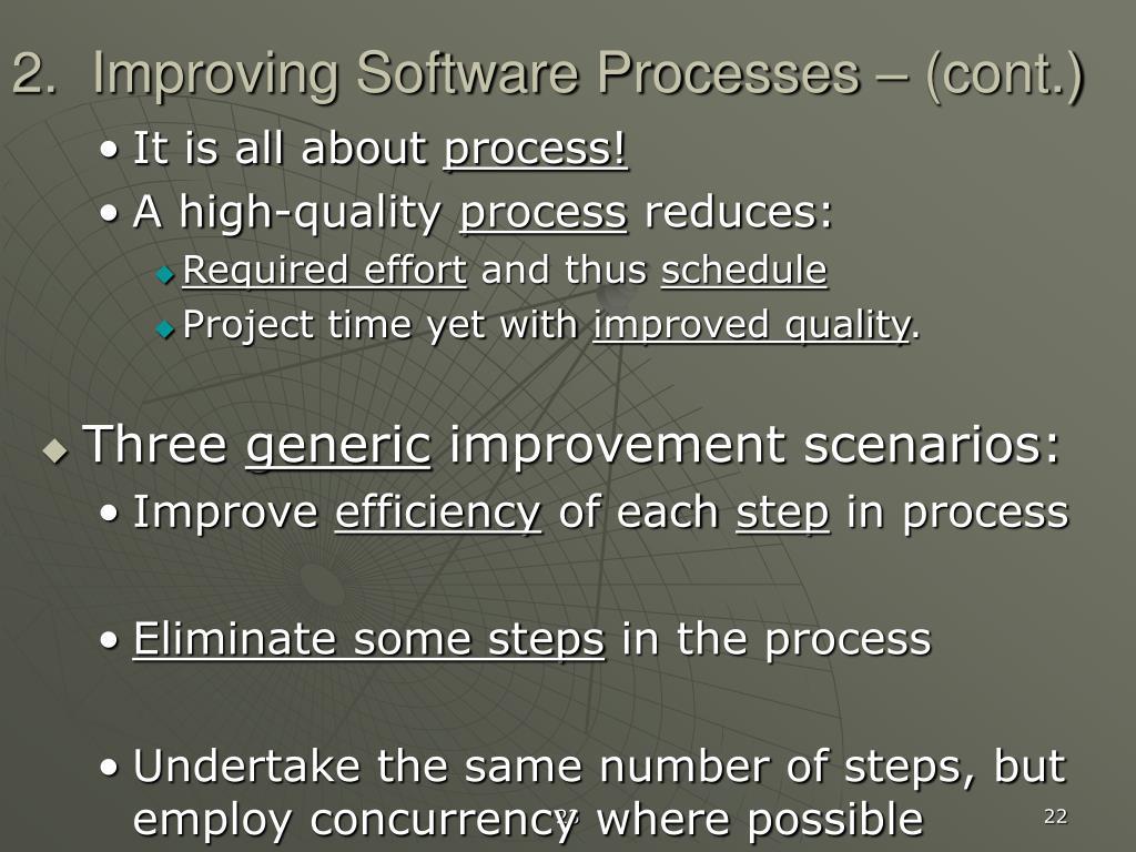 2.  Improving Software Processes – (cont.)