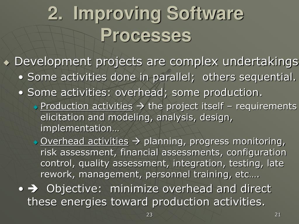 2.  Improving Software Processes