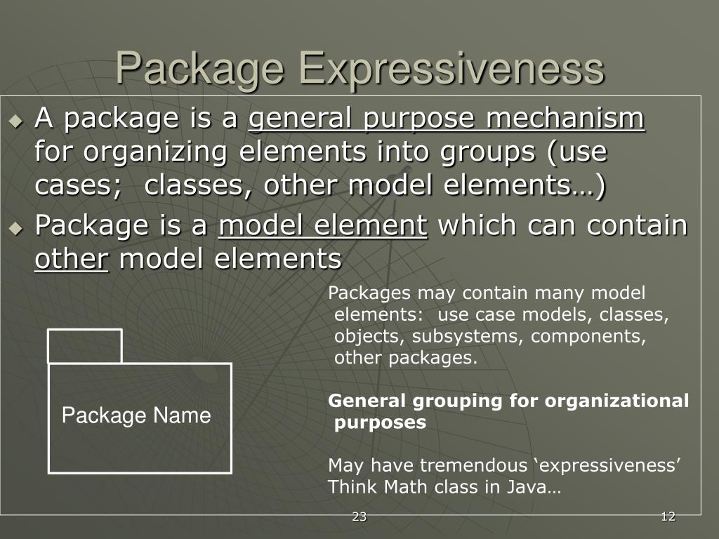 Package Expressiveness