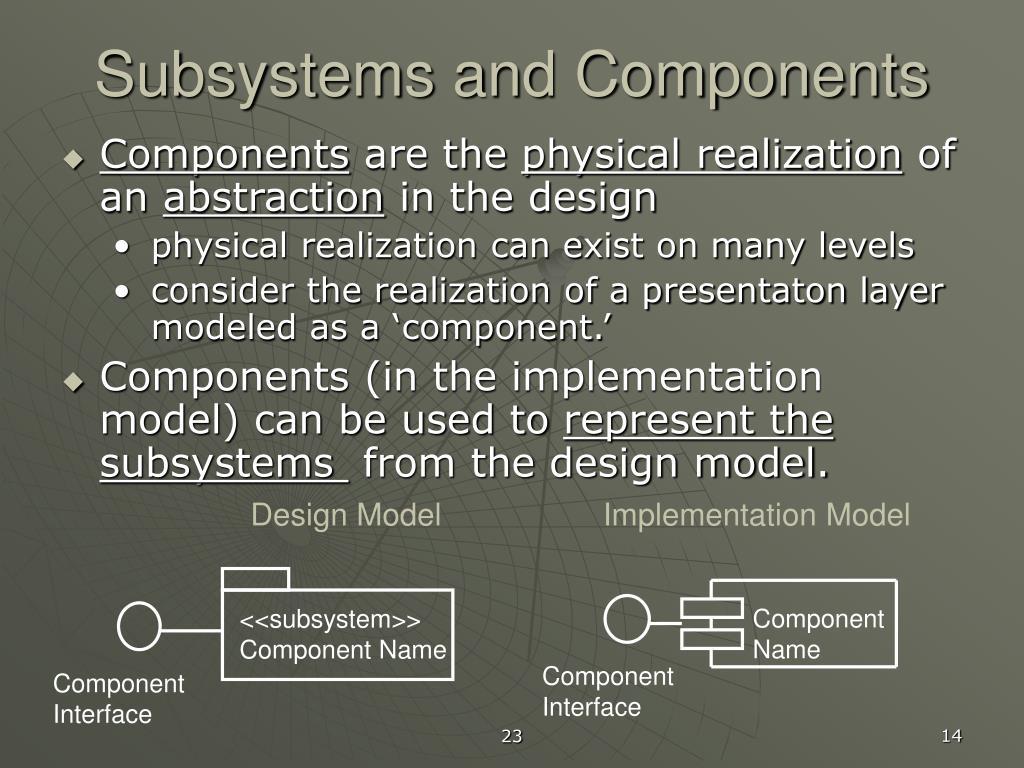 <<subsystem>>