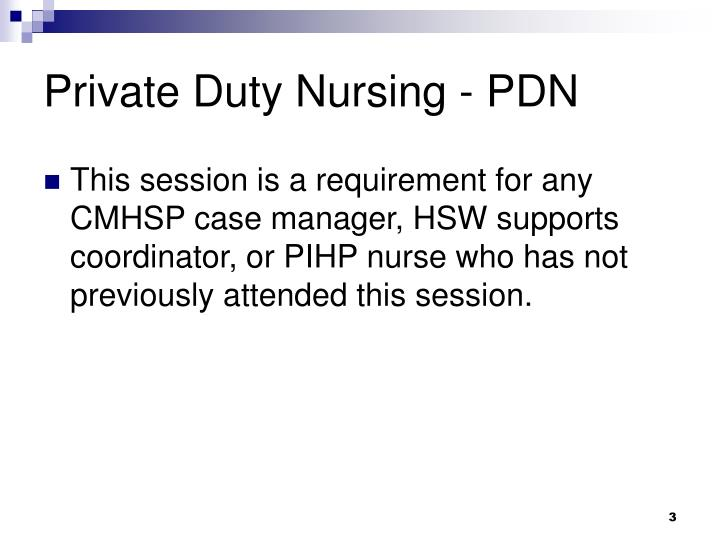Private duty nursing pdn