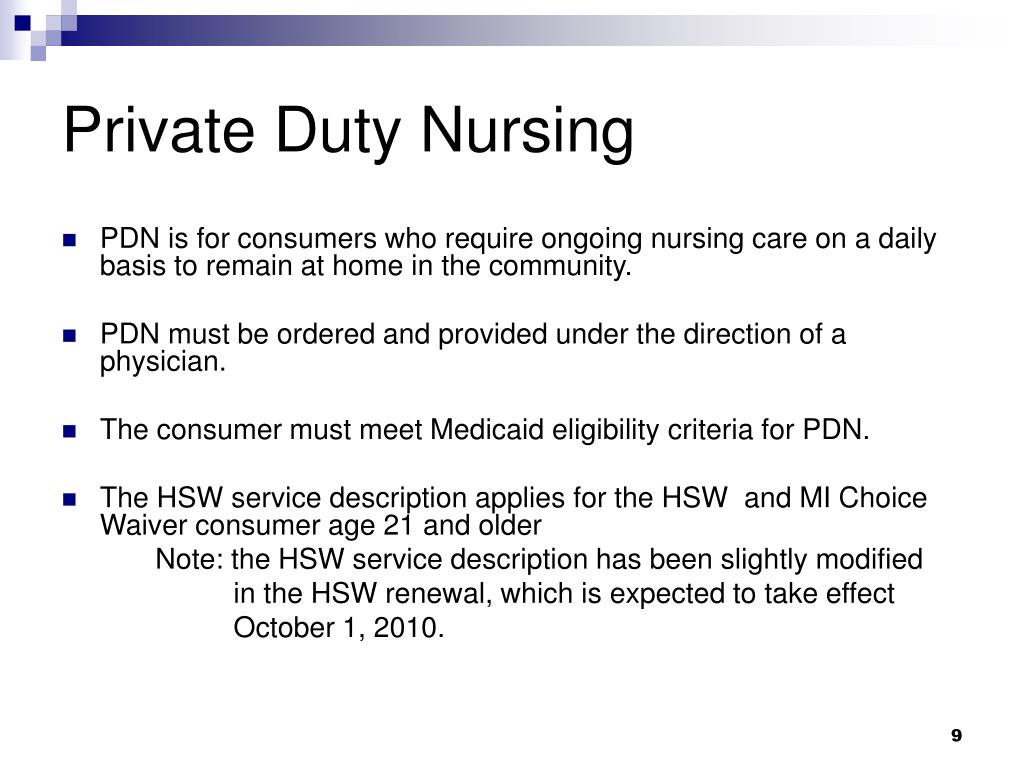 Private Duty Nursing