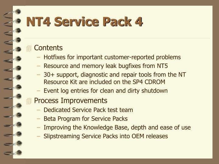 NT4 Service Pack 4