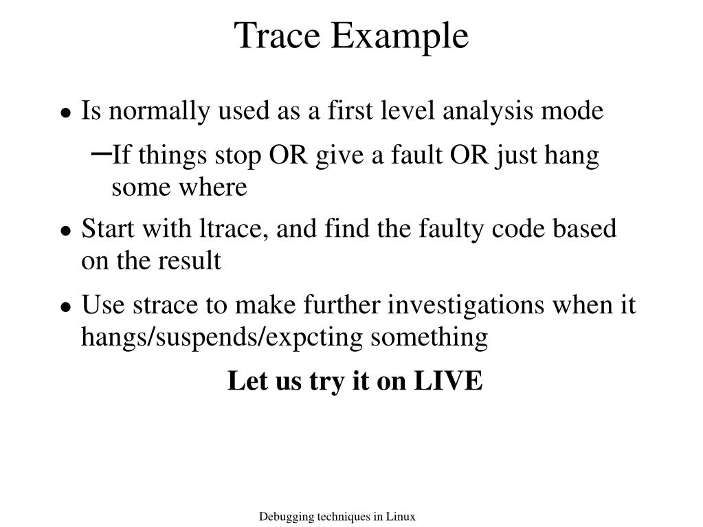 Trace Example