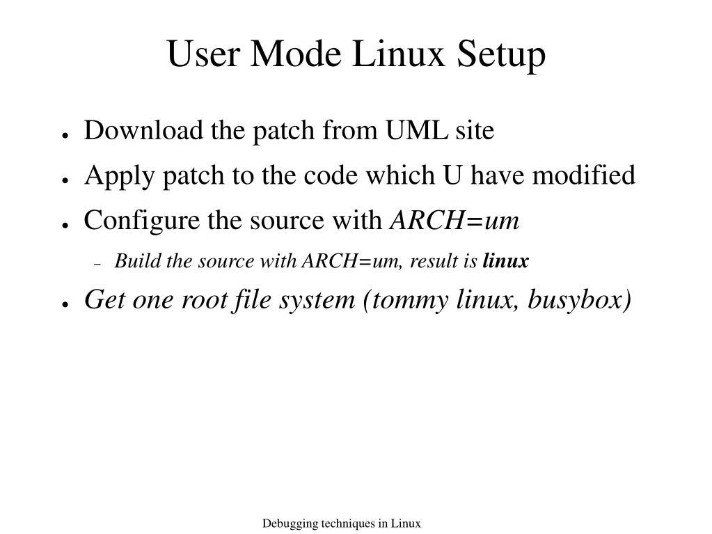 User Mode Linux Setup
