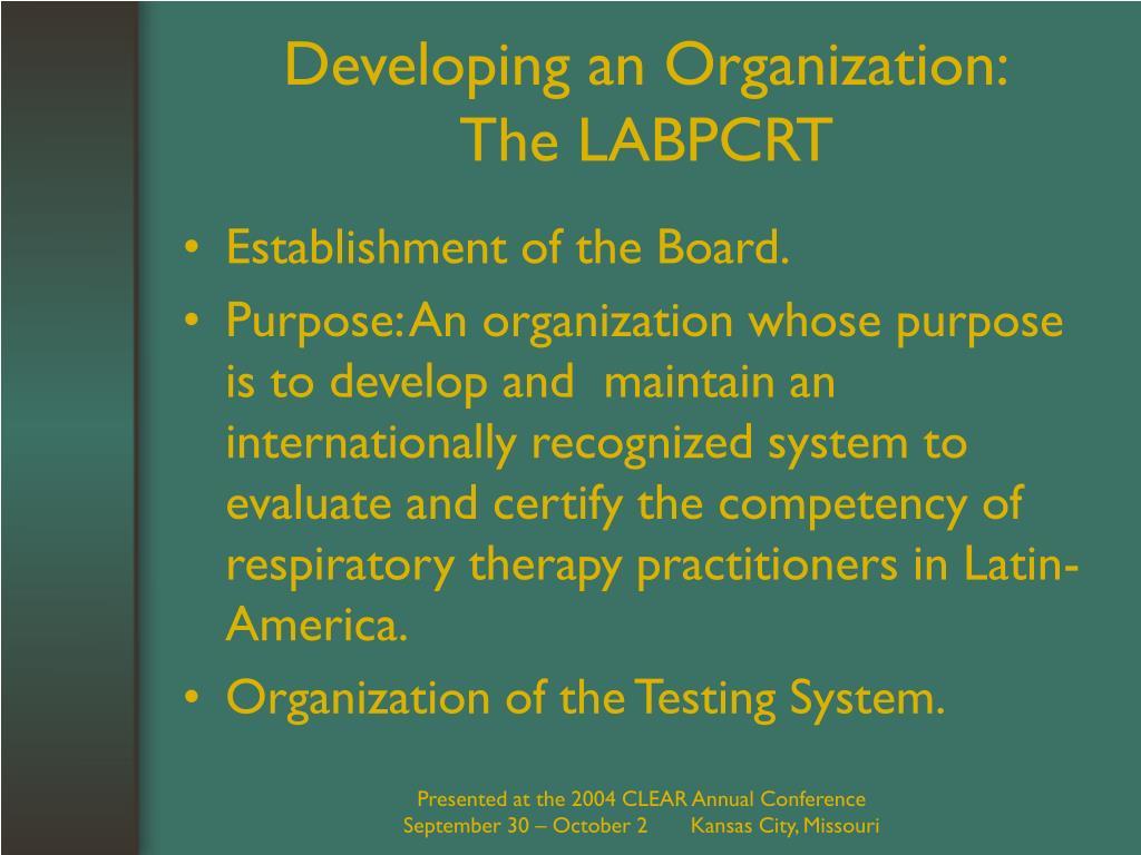 Developing an Organization: