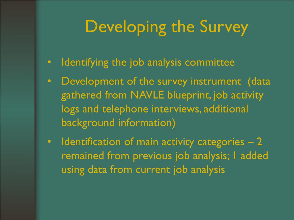 Developing the Survey