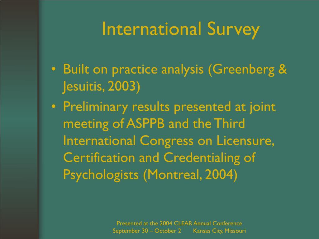 International Survey