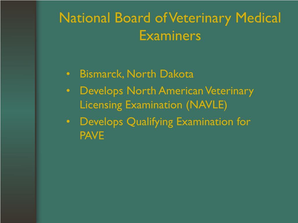 National Board of Veterinary Medical Examiners