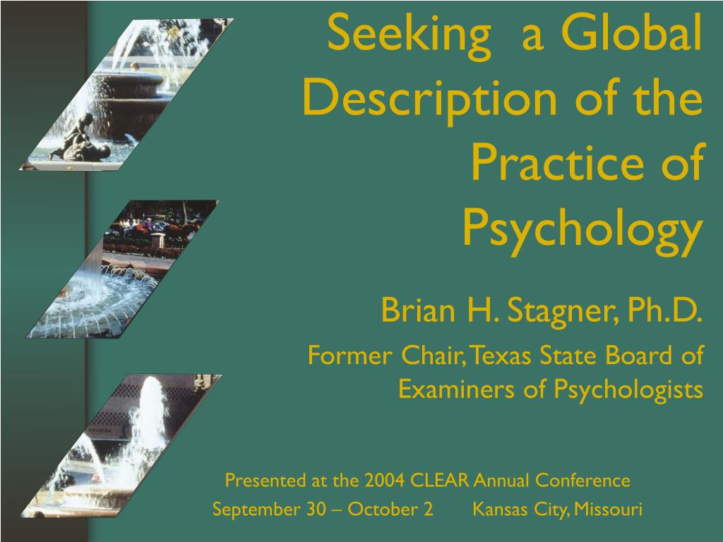 Seeking  a Global Description of the Practice of Psychology