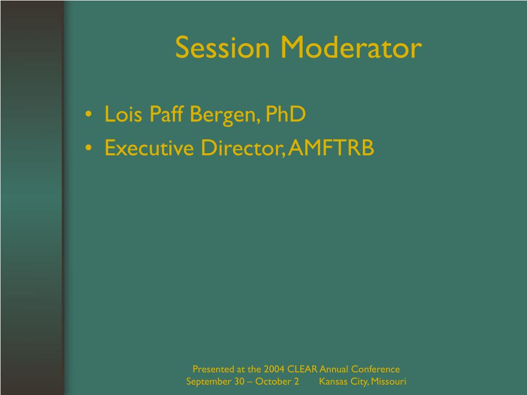 Session Moderator