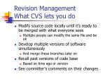 revision management what cvs lets you do