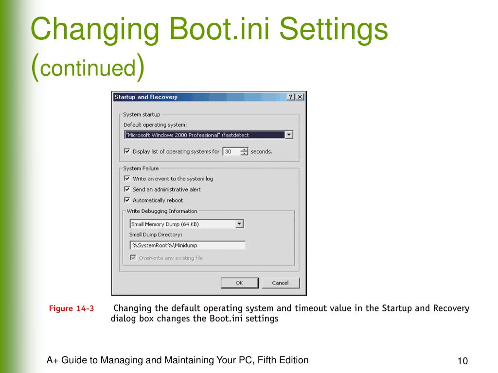 Changing Boot.ini Settings (