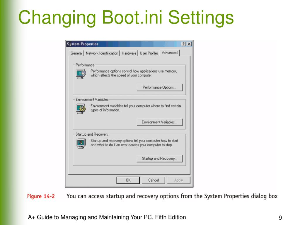 Changing Boot.ini Settings