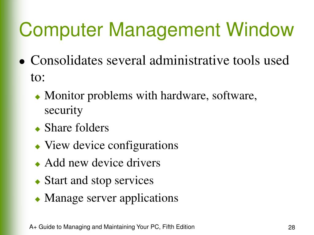 Computer Management Window