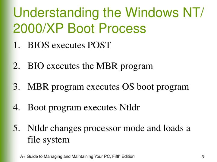 Understanding the windows nt 2000 xp boot process