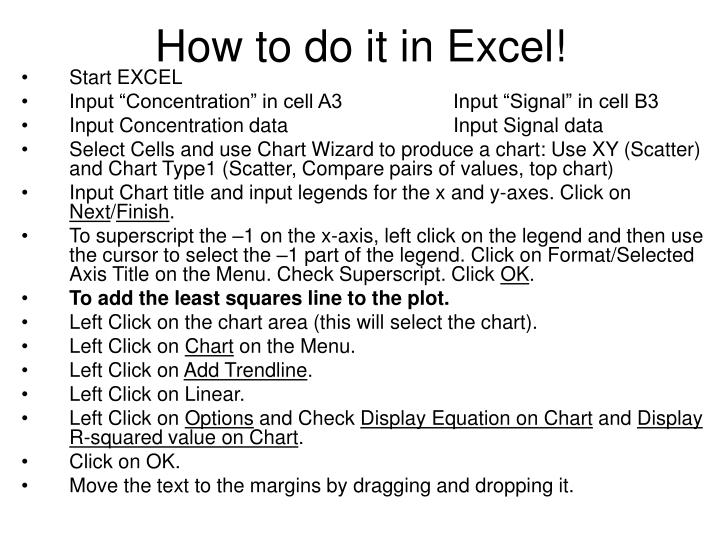 How to do it in Excel!
