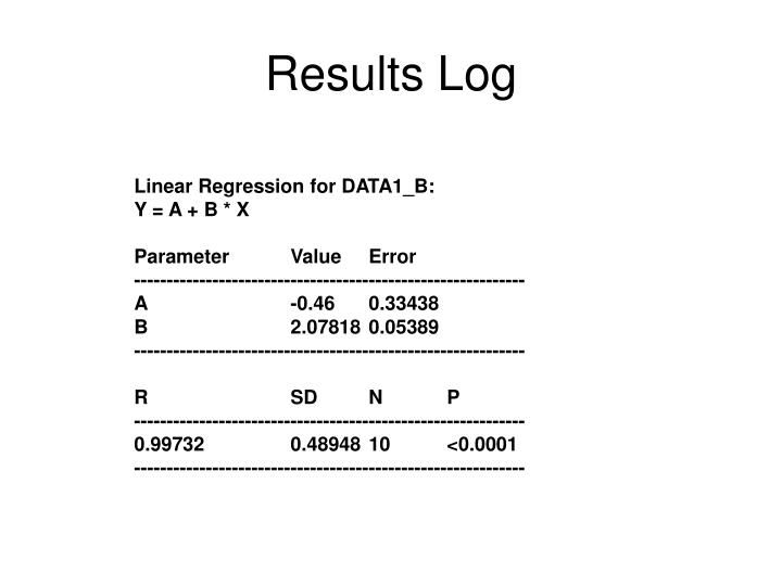 Results Log