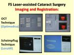fs laser assisted cataract surgery imaging and registration
