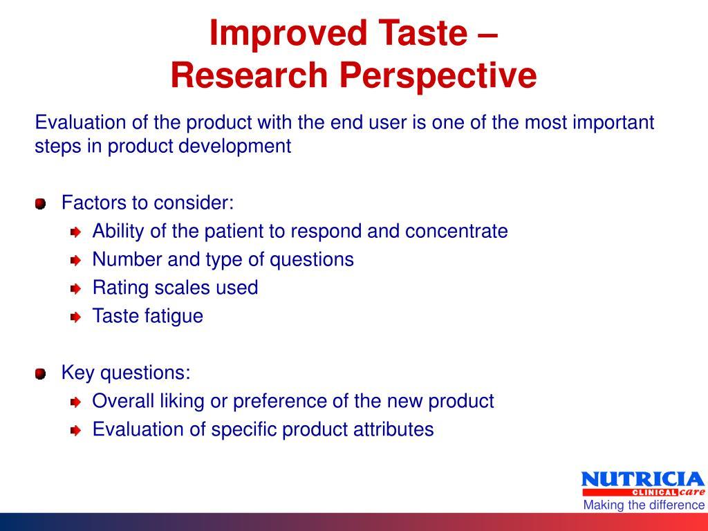 Improved Taste –