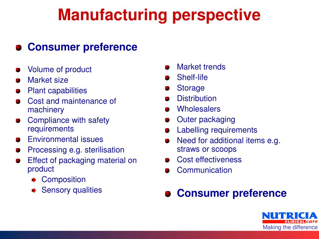 Consumer preference