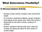 what determines flexibility10