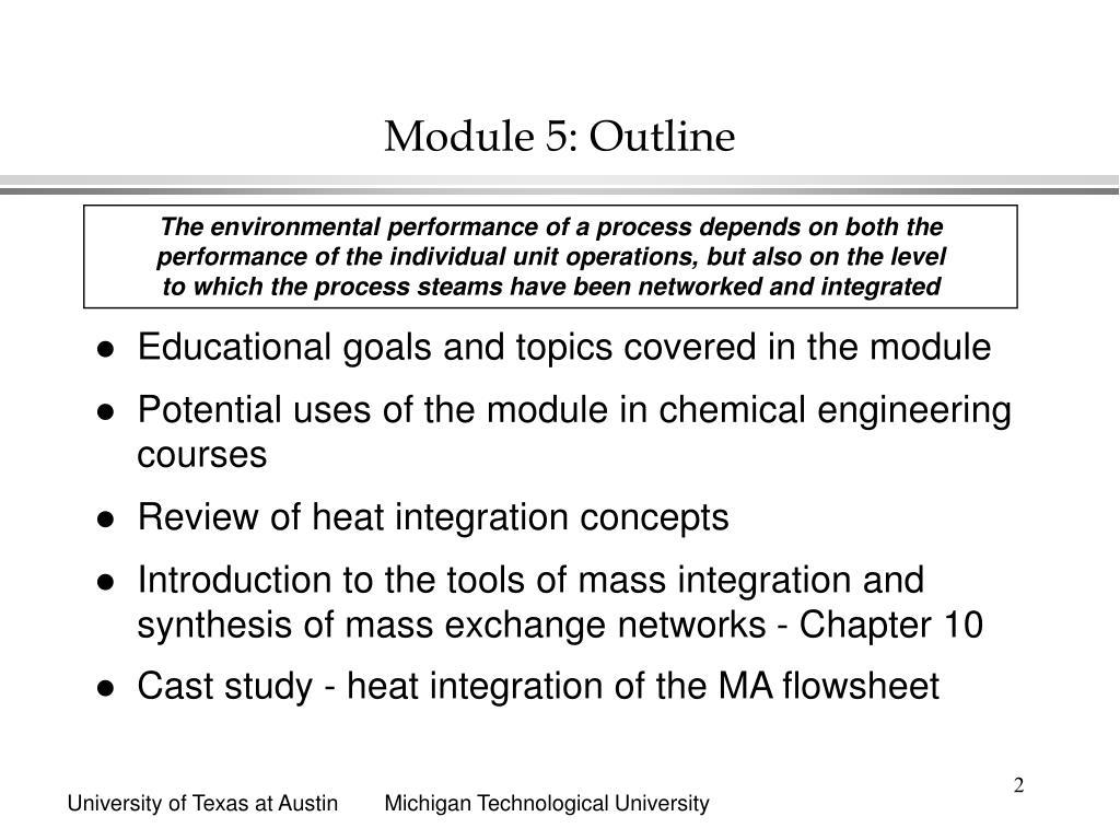 Module 5: Outline