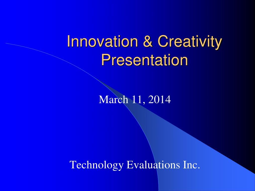 innovation creativity presentation l.