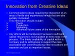 innovation from creative ideas