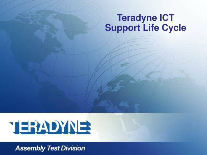 teradyne ict support life cycle n.