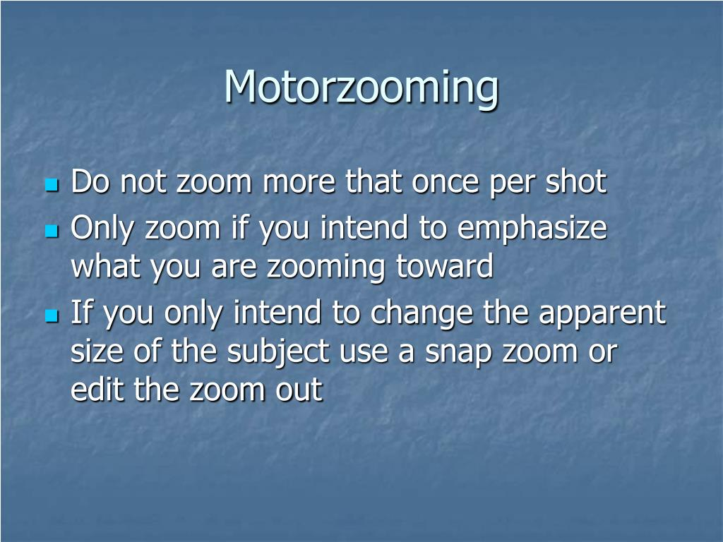 Motorzooming