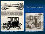 early electric vehicles